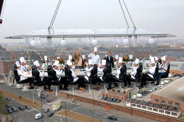Dinner in the Sky, Restaurant