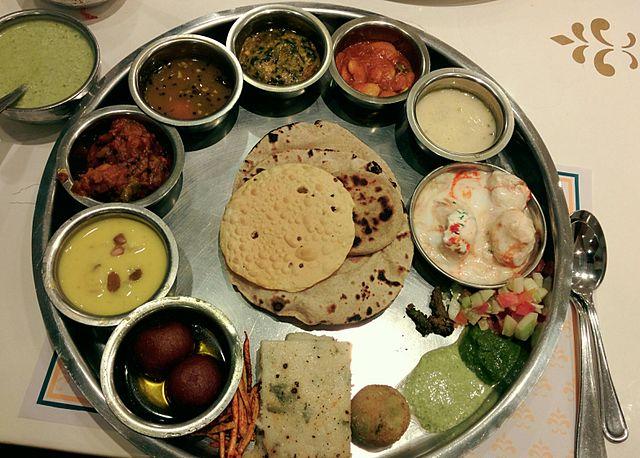 Gujarati Thali Meal