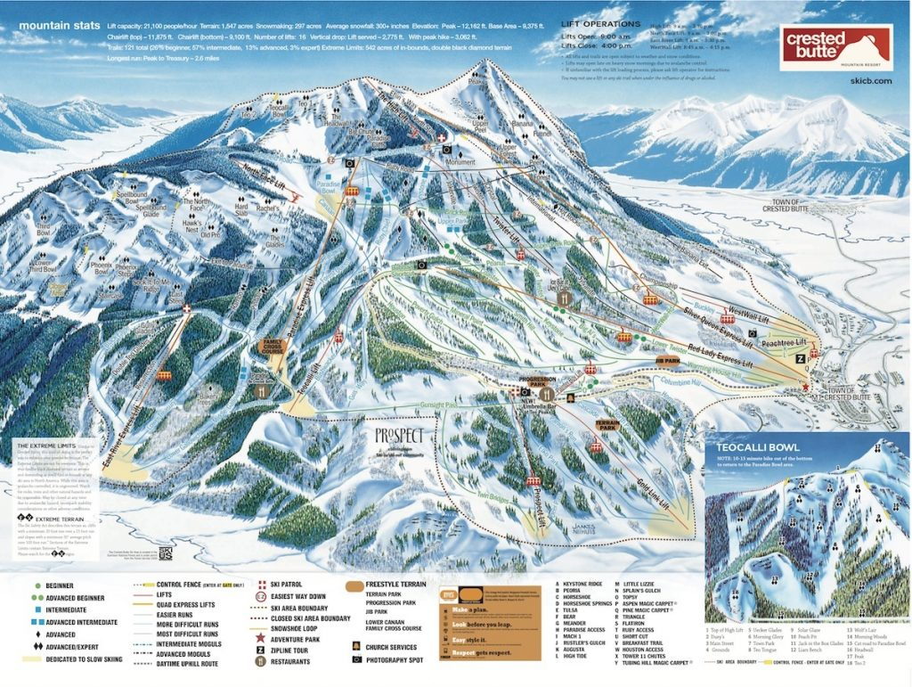 Crested Butte-Trail Map