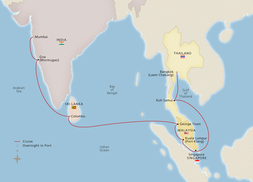 Bangkok Cruise Map