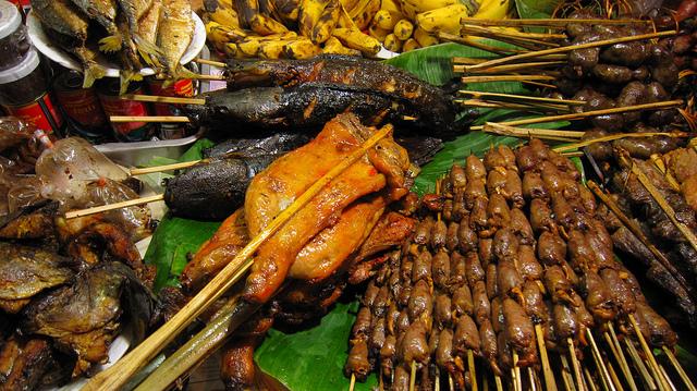 Street food Vientiane, Laos
