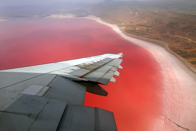 Maharloo Lake (Pink Lake), Iran