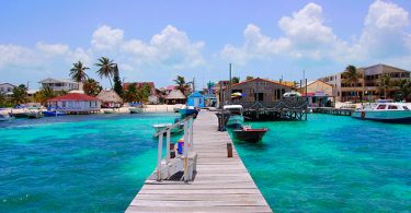 Latin American City Ambergris Caye