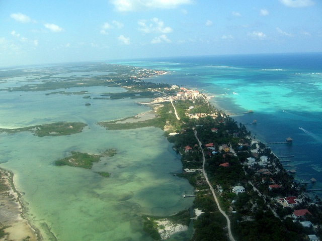 Latin American City Ambergris Caye, Belize