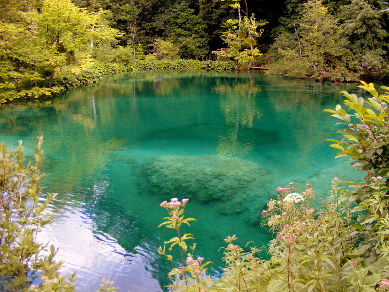 Clear water Plitvice Lake