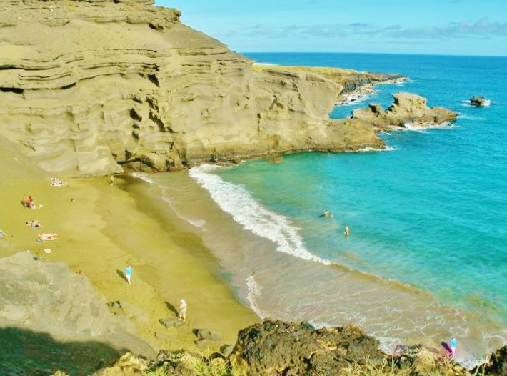 Papakolea Unique Beach
