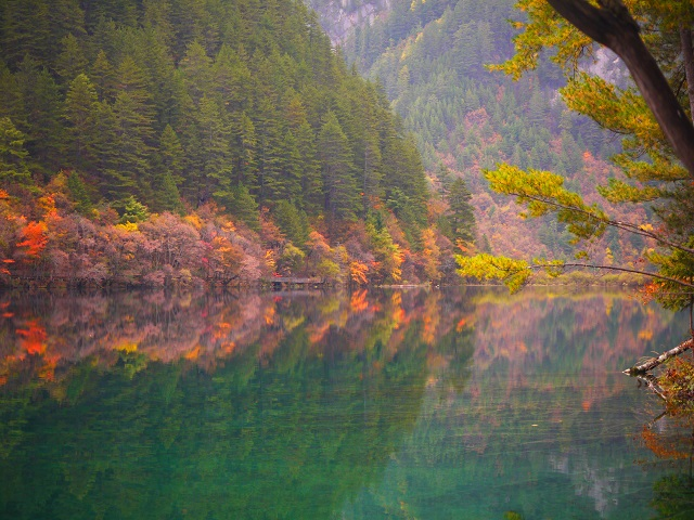 crystal clear water body mirror lake
