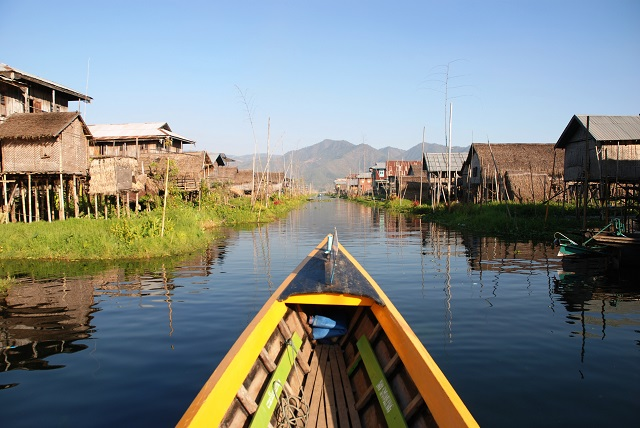 South East Asian tourist attraction Inle Lake