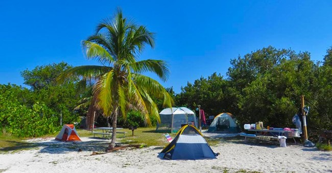 Camping Sites at Dry Tortugas National Park