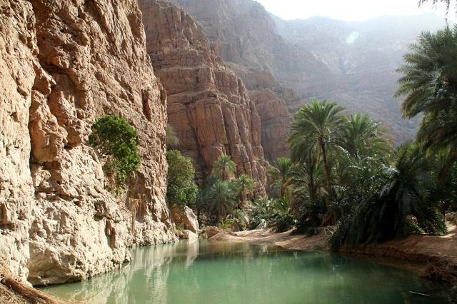 Oman Wadi Shab canyon