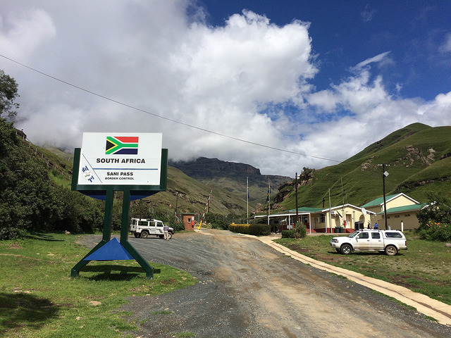 Sani Pass Road sign