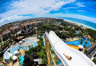 Waterslides at Fortaleza Beach Park