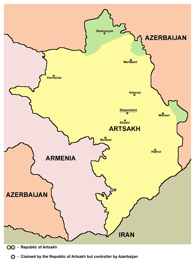 Republic of Artsakh with no airport