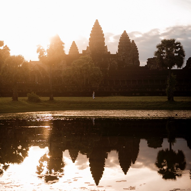 Sunrise watching Angkor Wat