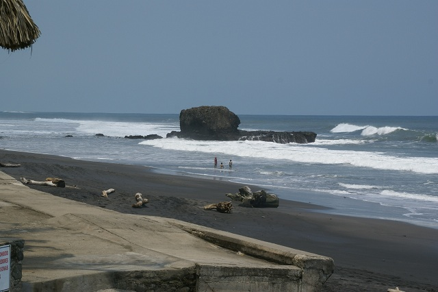 Black sand beach, El Salvador
