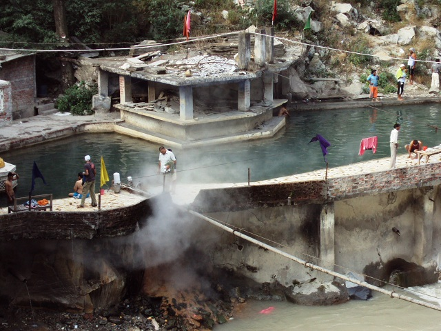 Manikaran natural hot water springs