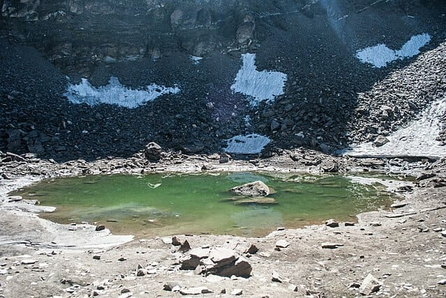 Alpine Lakes in India Roopkund lake