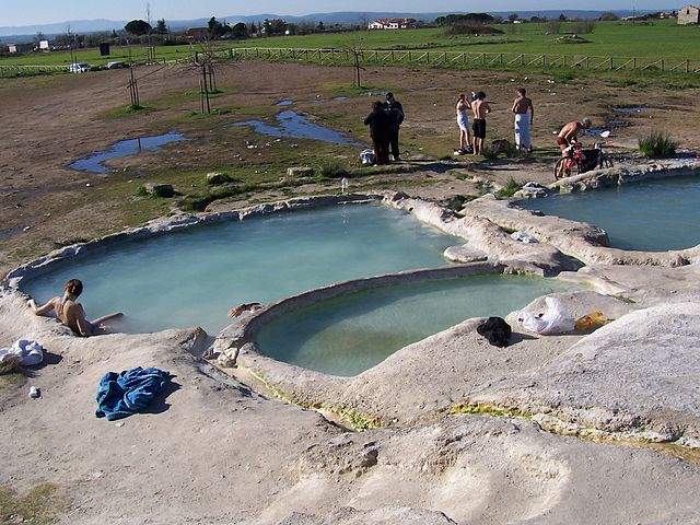 Viterbo Bullicame natural hot springs