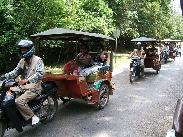 tuk-tuk in Siem Reap