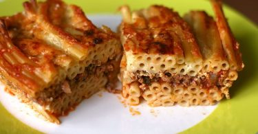 Greek food pastitsio