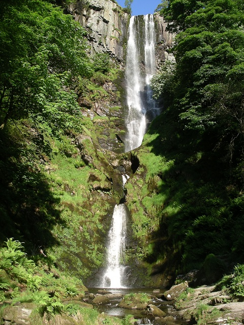 Scenic Places in UK Pistyll Rhaeadr Waterfall