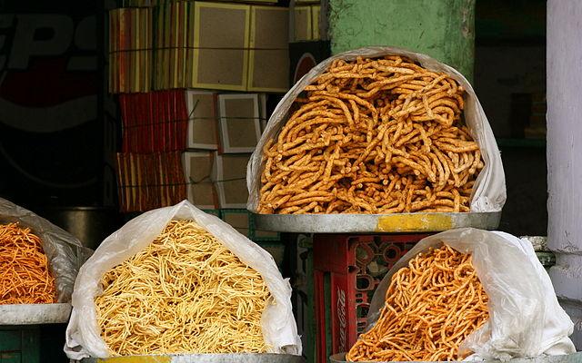 Bikaneri Bhujia Street Foods in Jaipur