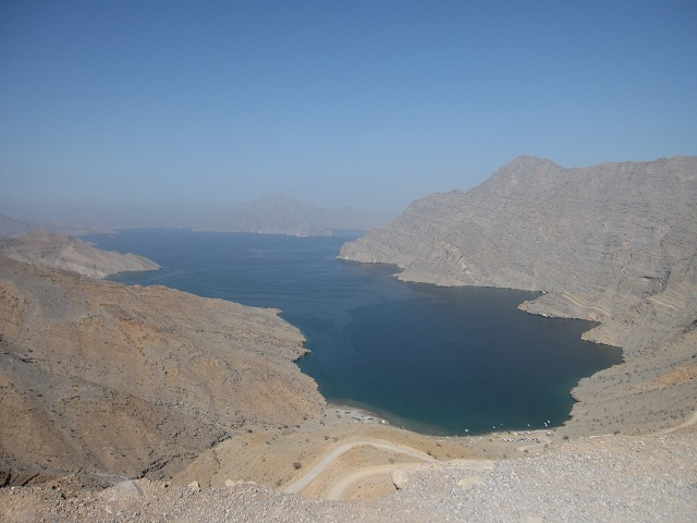 beautiful fjord in Oman