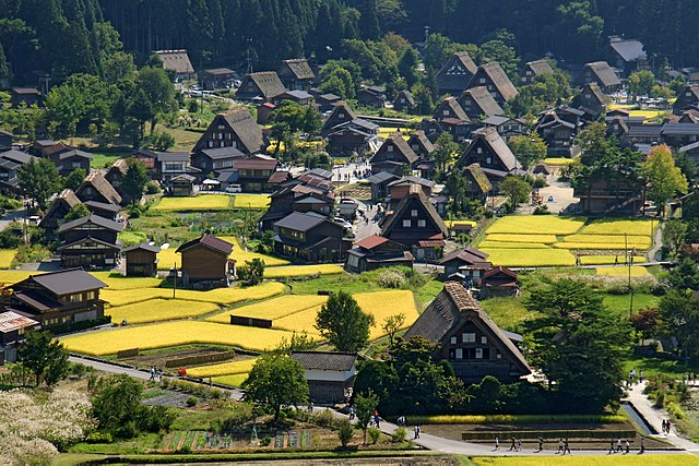 The beautiful villages in Japan