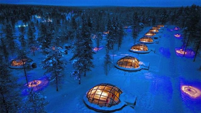 Unique Hotels in Finland Glass Igloo