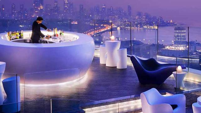 Nightlife in Mumbai Aer, roof-top bar