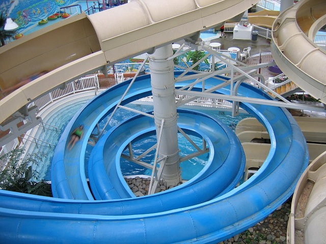 Blue Bullet-circular water slide