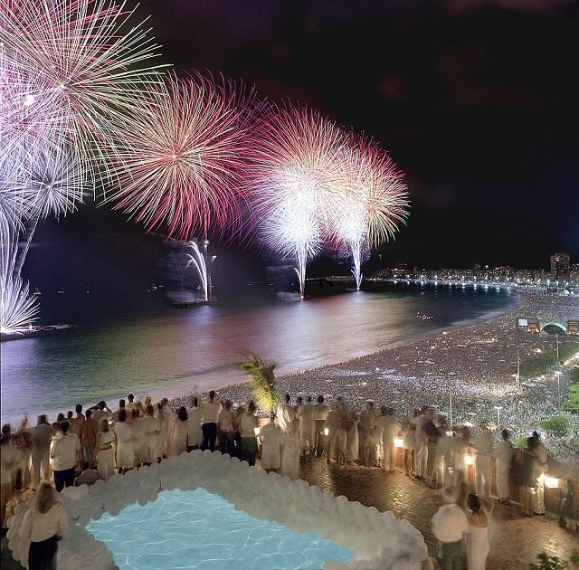 Fireworks Copacabana Beach