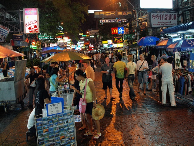 Tourist attractions in Thailand Khaosan Road, Bangkok