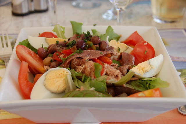 Nicoise Salad, French food in Pondy