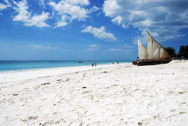 Nungwi white sand beach, Zanzibar, Africa