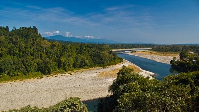 Bhalukpong hill town, Arunachal Pradesh