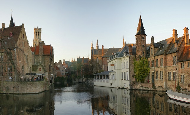 Cities on Rivers Bruges Canal city
