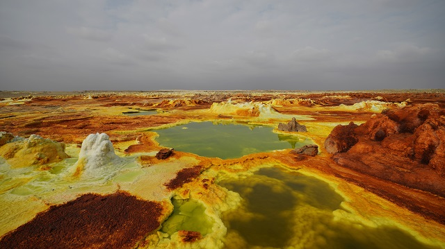 Places Below Sea Level Dallol Sulphur Springs