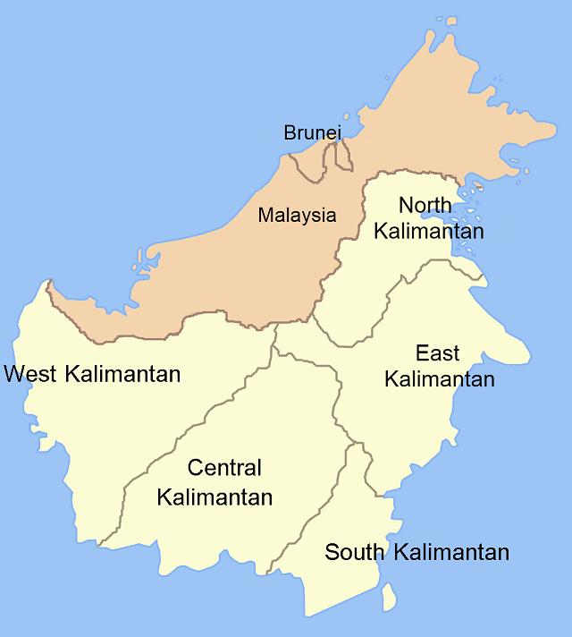 Kalimantan Map