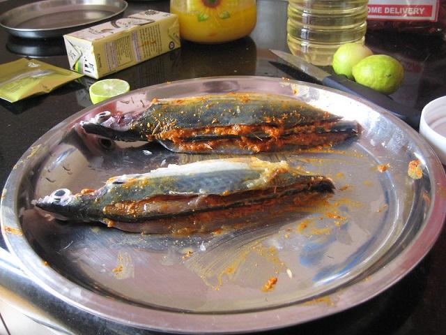 Delicious Portuguese Food in GoaMackerel Recheado