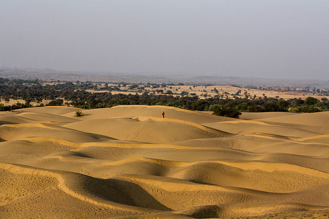 Desert motorcycle trail