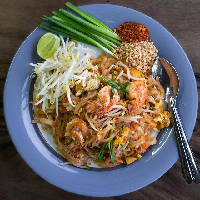 Pad Thai, Asian street food in Thailand
