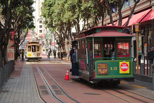 Places to See in California Cable Car ride in San Francisco