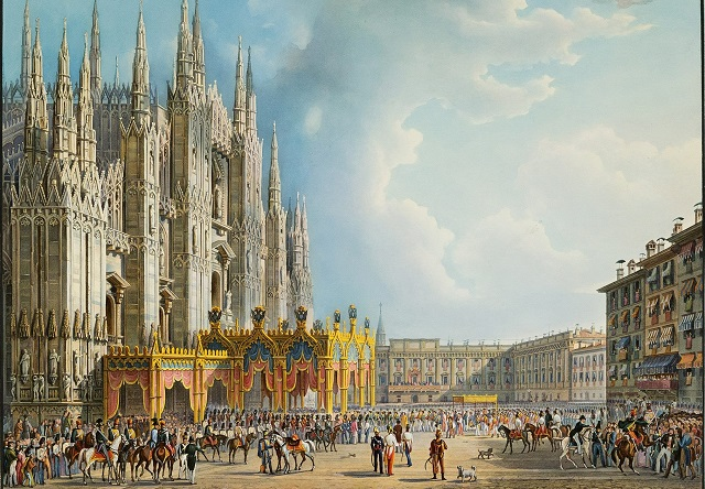Milan Cathedral in 1838
