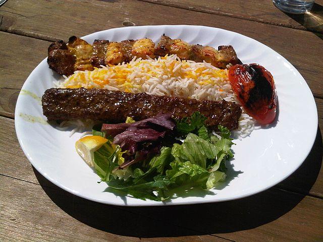 Persian Food Rice and Kabab