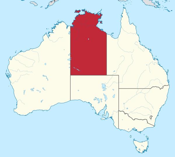 Northern Territory of Australia Map