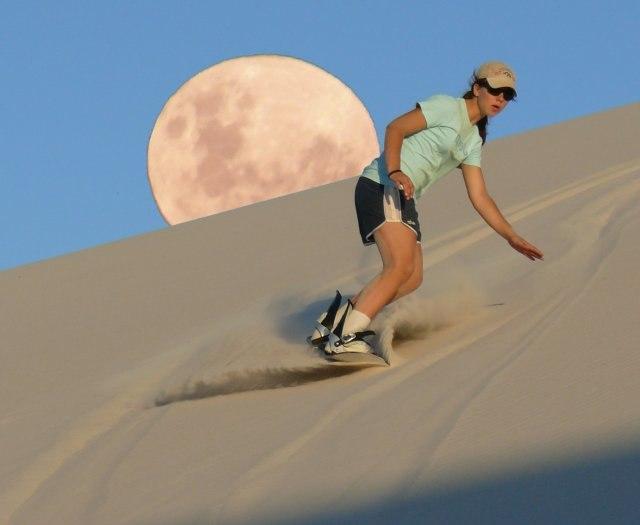 Sandboarding in the Sahara